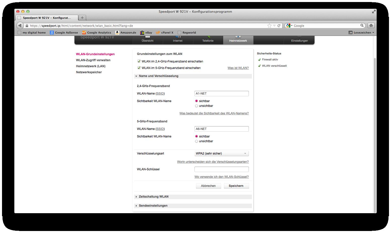 Wlan Beim Telekom Router W921v Einrichten Anleitung Mit
