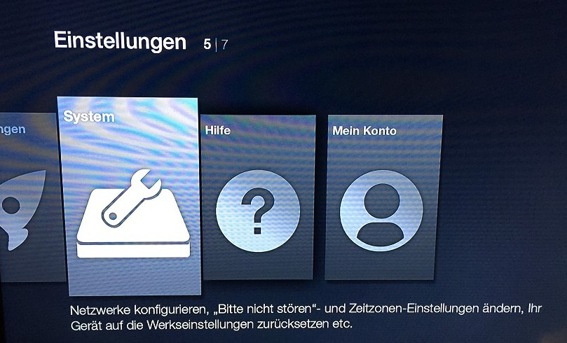 Amazon FireTV Einstellungen
