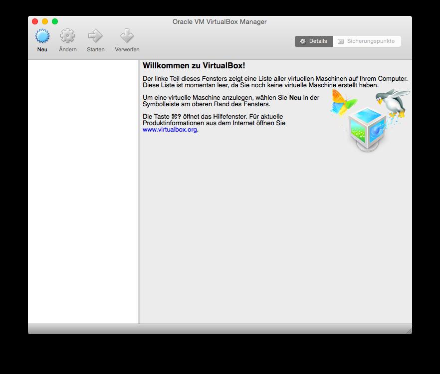 VirtualBox Neu einrichten