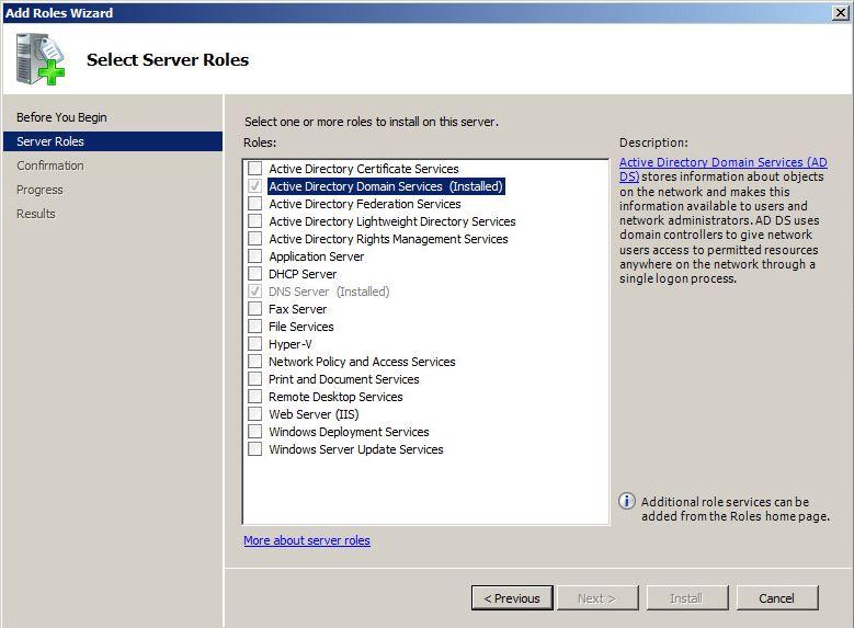 Server Rollen