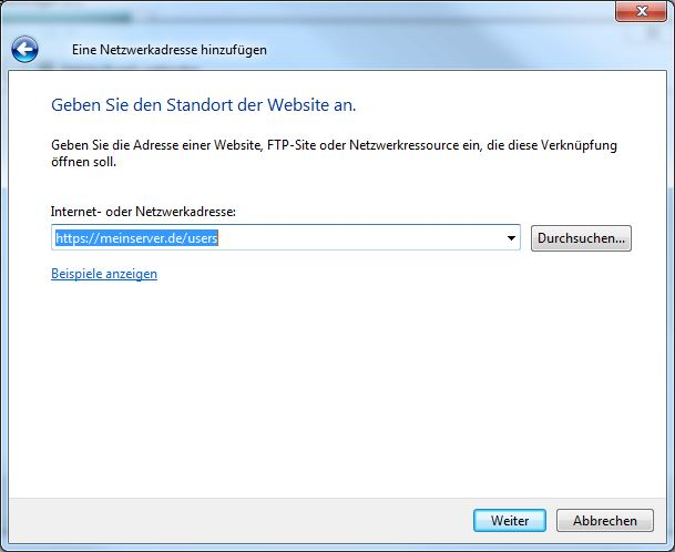 https Verbindung Windows 7