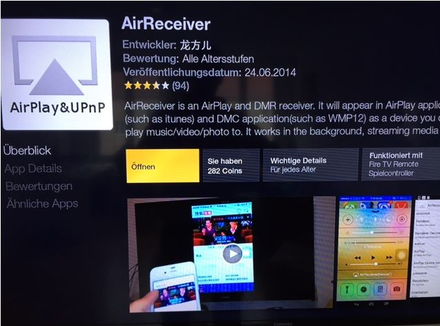 AirPlay UPnP App - Amazon Fire TV