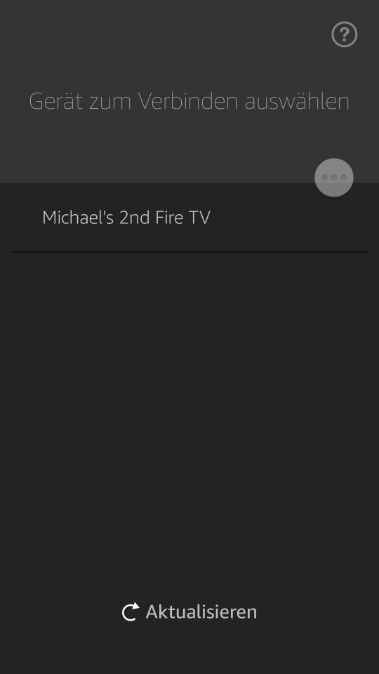Amazon FireTV Fernbedienungs App - Gerät auswählen