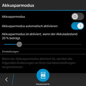 Akkusparmodus aktivieren - Blackberry OS 10.3.1