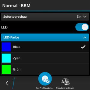 BBM LED Farbe - Blackberry OS 10.3.1