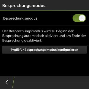 Besprechungsmodus - Blackberry OS 10.3