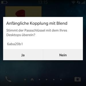 Blackberry Blend - Kopplung mit Q10