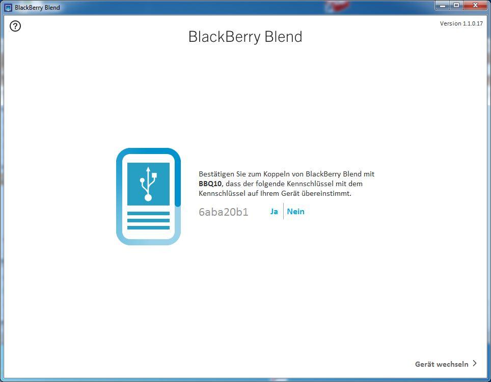 Blackberry Blend Kopplung