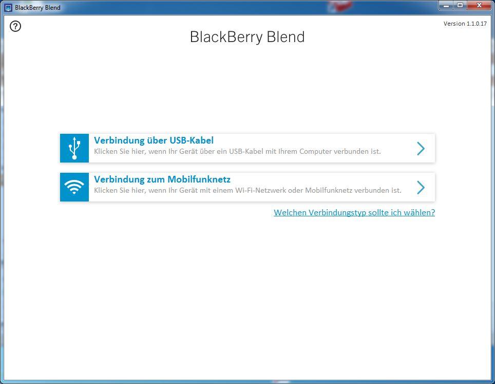 Blackberry Blend Verbindung