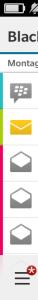 Blackberry Hub Farben - Blackberry OS 10.3.1