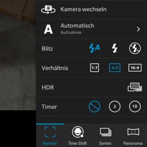Blackberry Kamera Funktionen OS 10.3
