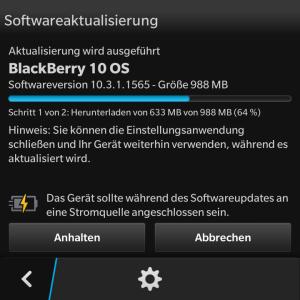 Blackberry Update 10.3