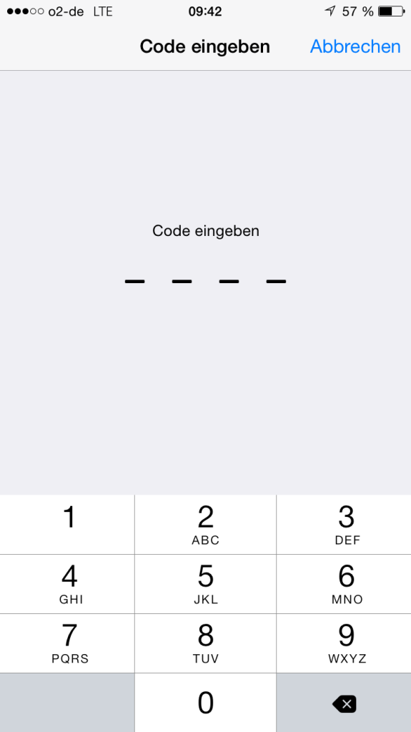 Code eingeben