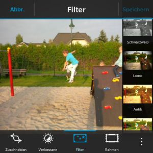 Fotobearbeitung - Blackberry OS 10.3