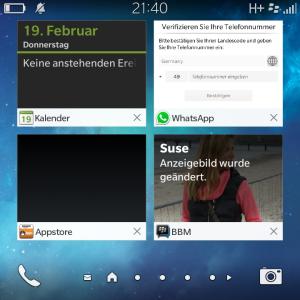 Geöffnete Apps - Blackberry OS 10.3