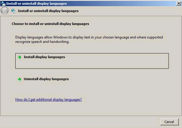 Install or unistall display languages