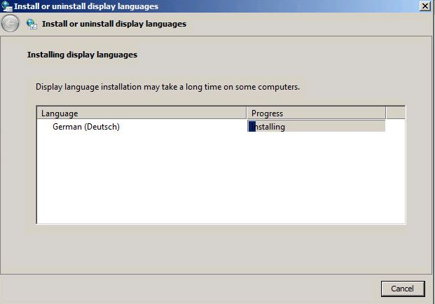 Installing display languages