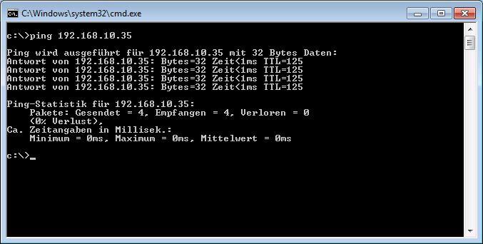 Ping IP Adresse erreichbar
