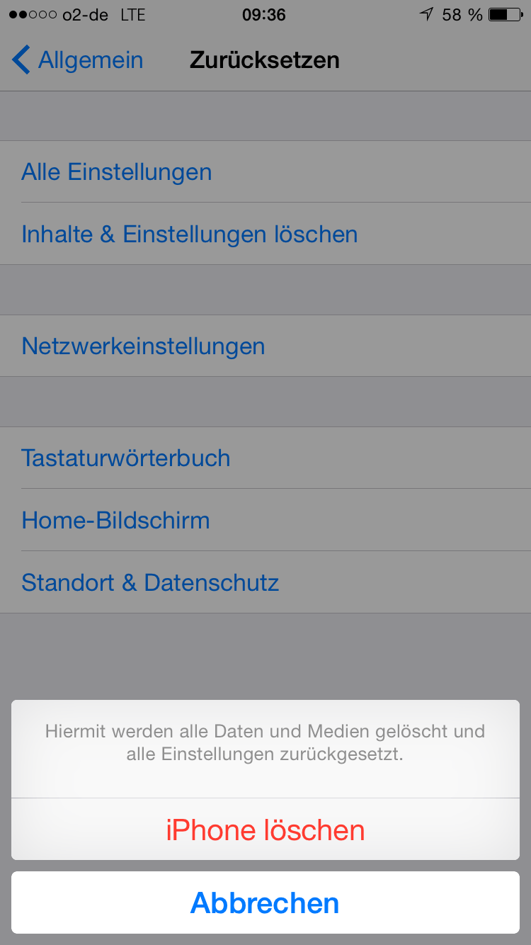 Iphone Zurucksetzen Alle Daten Vom Iphone Loschen My Digital Home