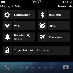 Blackberry Balance - geschäftlicher Bereich umschalten