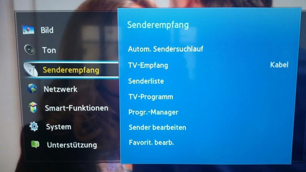 Samsung TV F Serie - Menü Senderempfang