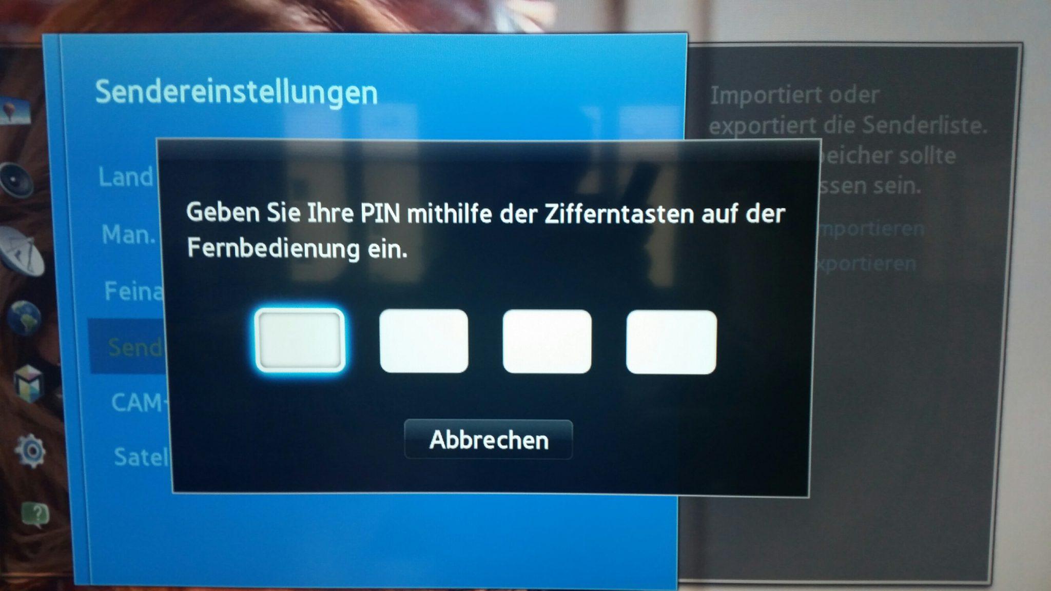 Programmliste am PC erstellen – Samsung TV Senderliste