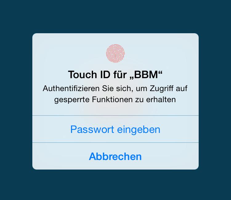Touch ID für BBM