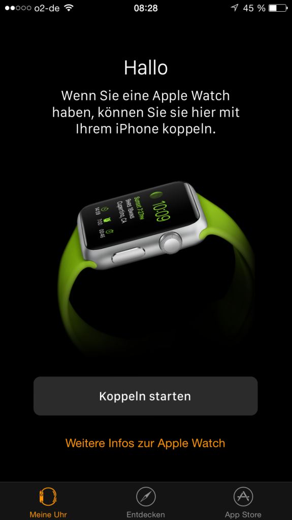iOS 8.2 Apple Watch Koppeln
