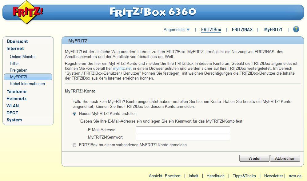Internet - MyFRITZ