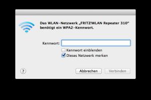 FRITZ! WLAN Repeater - Passwort eingeben
