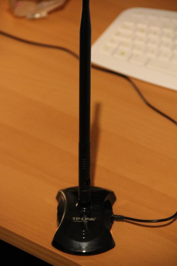 WLAN Antenne TP-Link aufgestellt