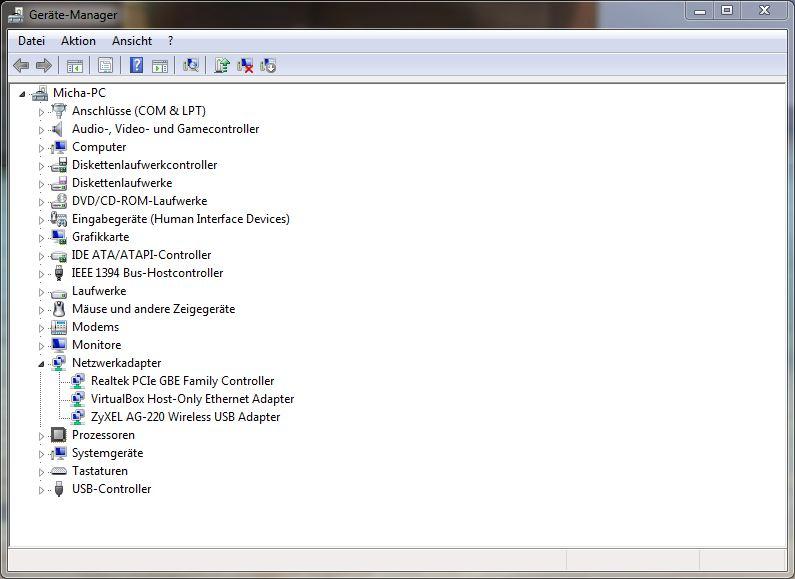 WLAN Stick im Gerätemanager richtig installiert