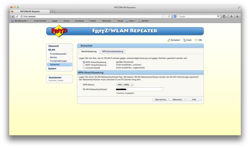 FRITZ! WLAN Repeater - WLAN - Sicherheit