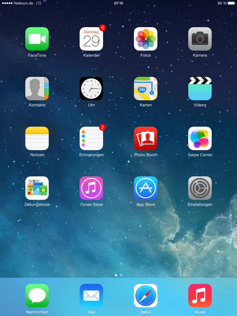 iPad-Einstellungen