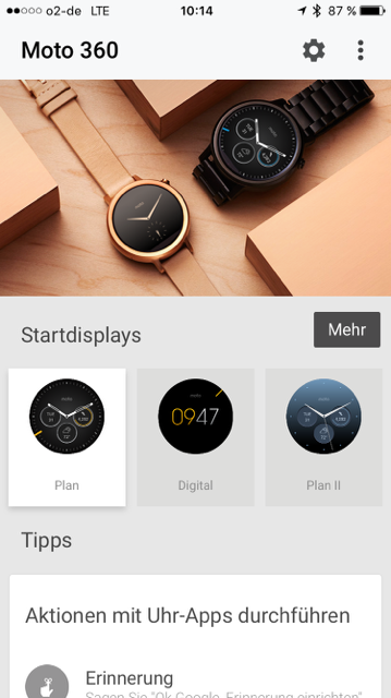 Android Wear App - Moto 360