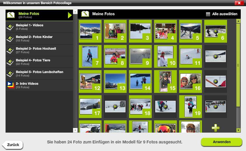 Collage erstellen - 03 - Fotos auswählen