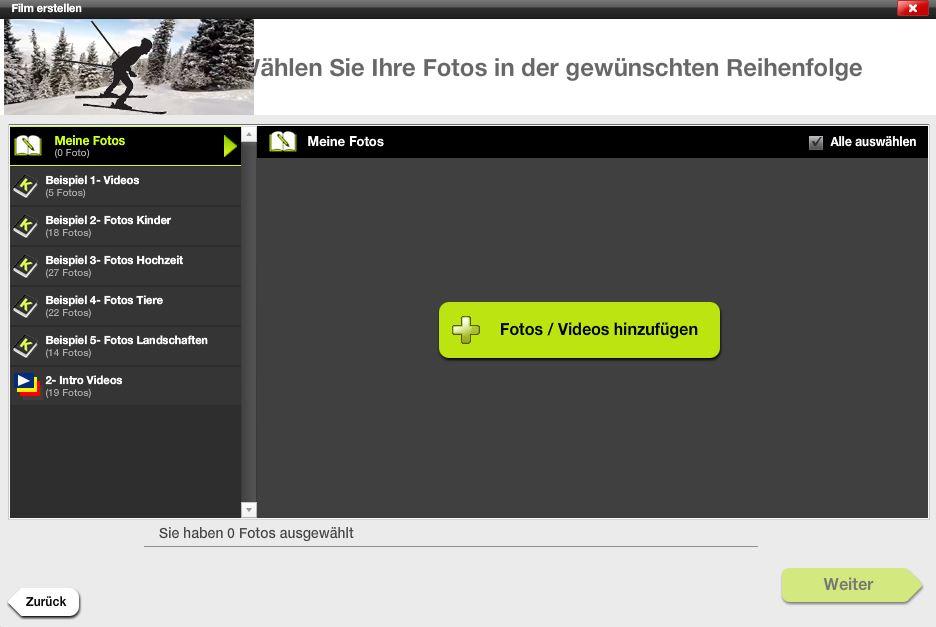 Film erstellen - 03 - Fotos und Videos hinzufügen