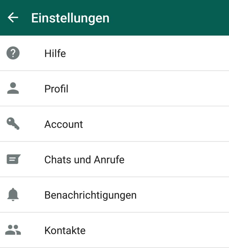 WhatsApp - Einstellungen