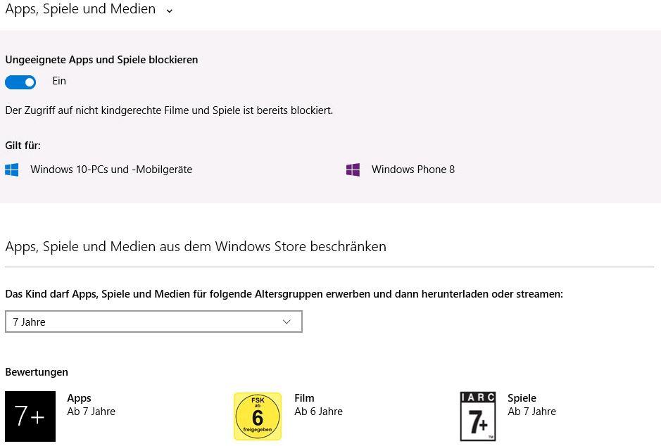 Windows 10 - Einstellungen Apps, Spiele und Medien