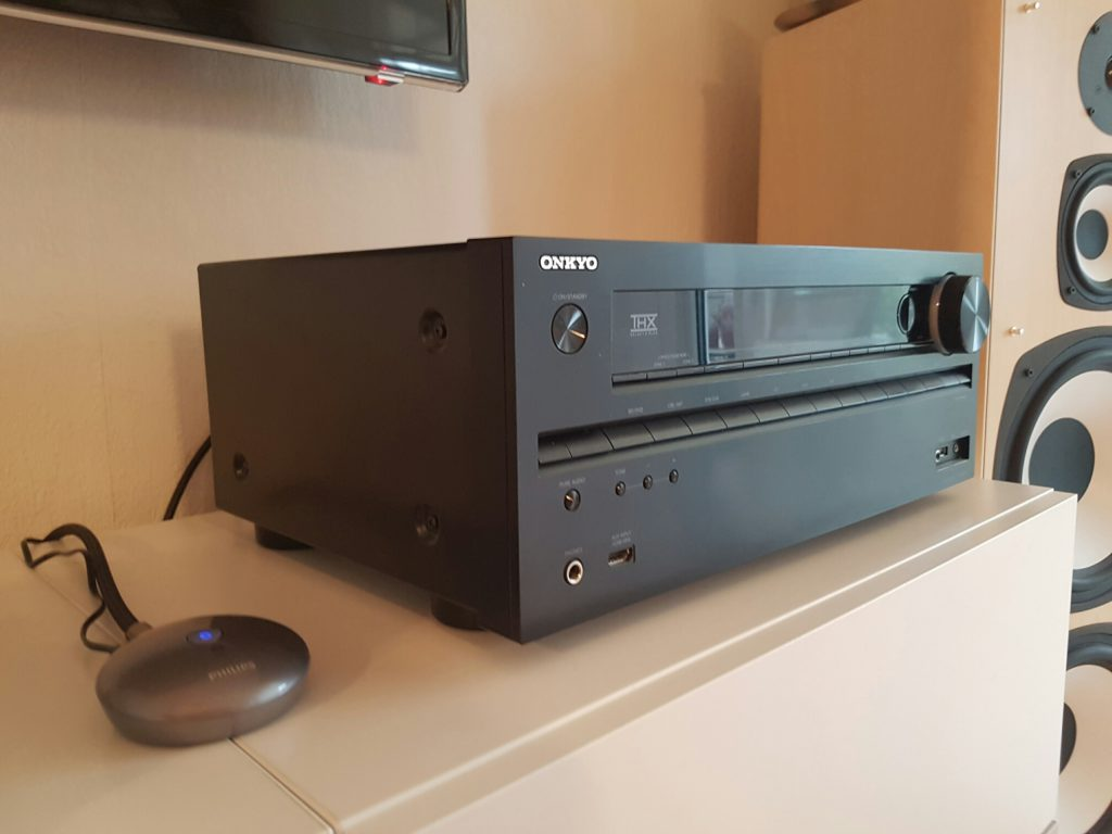 Philips Bluetooth Musikadapter an Onkyo AV Receiver