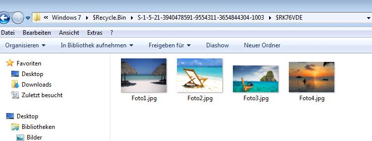 Dateien wiederhergestellt
