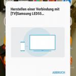 Herstellen einer Verbindung mit dem Fernseher