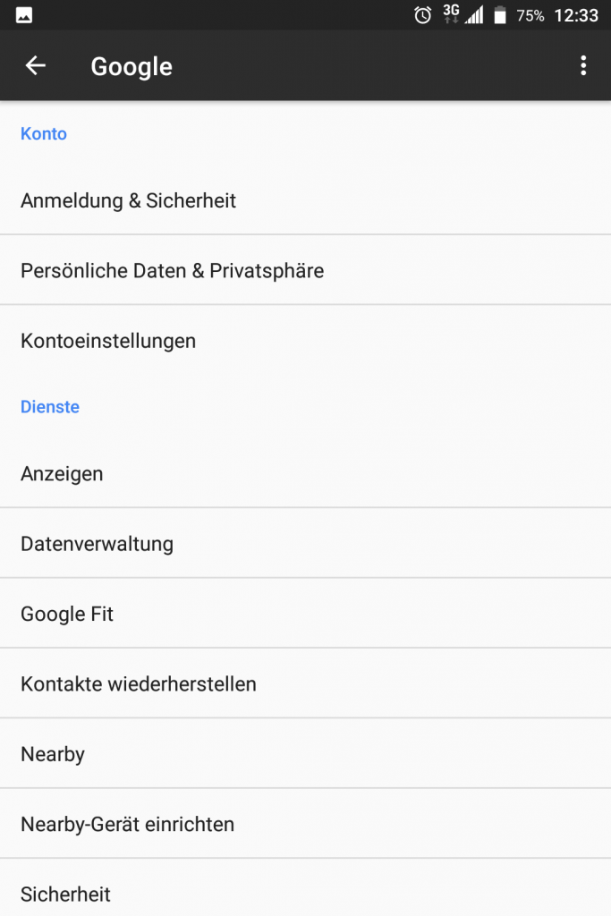 google konto einstellungen