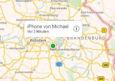 Verlorenes iPhone oder iPad über die iCloud orten
