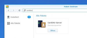 Synology CardDav installieren