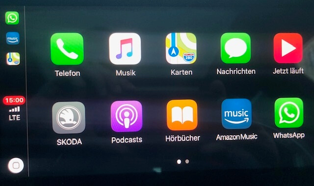Apple CarPlay Hauptmenü