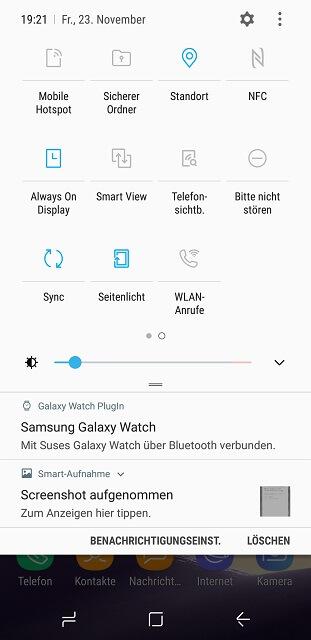 Samsung S8 Smart View aktivieren