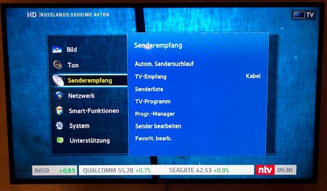Samsung TV - automatischer Sendersuchlauf