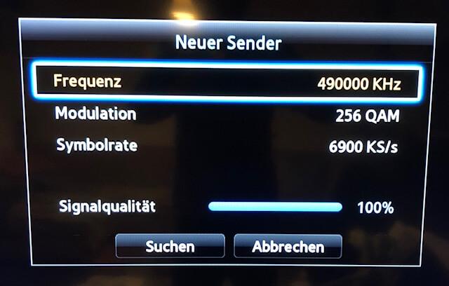 Samsung TV - neue Sender