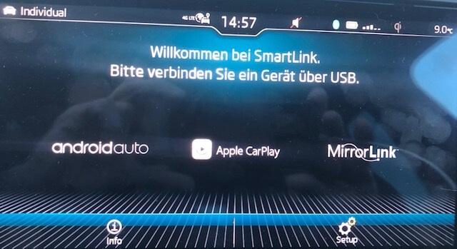 Skoda Menü - Smartlink - USB verbinden